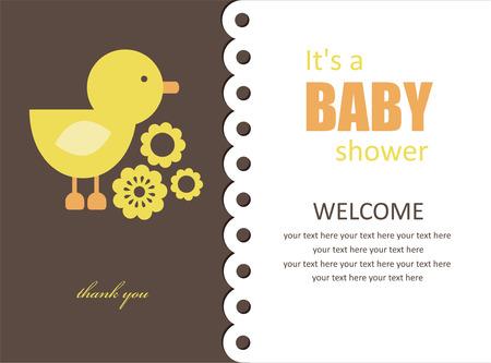 baby shower yellow: cute baby shower design.