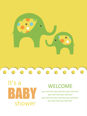 baby elephant: cute baby shower design.