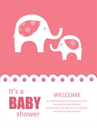cute baby shower design. Vector