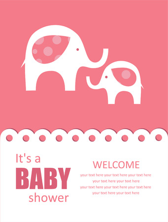 baby elephant: cute baby shower design. Illustration