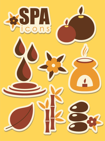 spa icons set. Vector