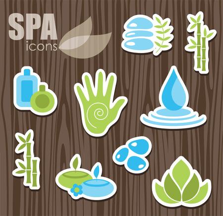 yoga icon: spa icons set.