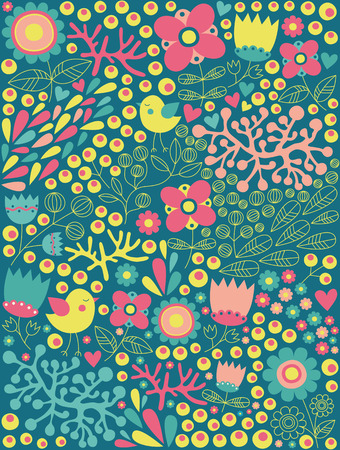 cute floral pattern.  Illustration