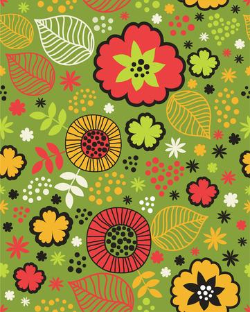 childlike: childlike seamless floral background.