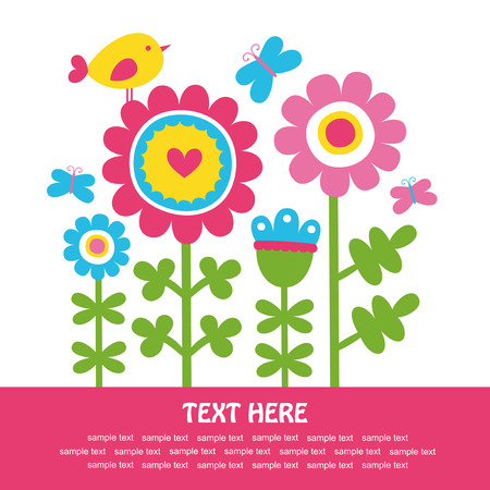 baby background: cute floral card.