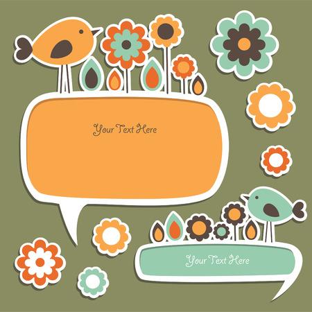 childlike: cute childlike stickers.  Illustration