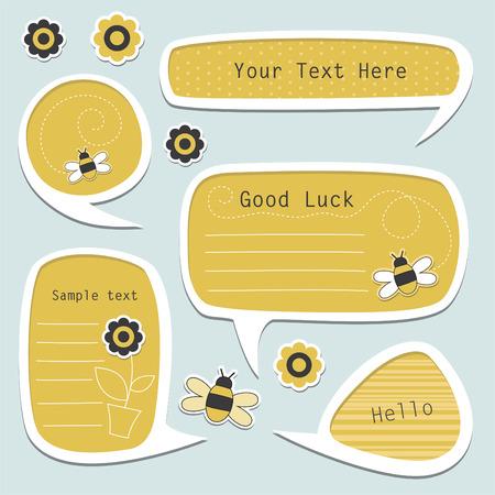 set of cute text frames.  Vector