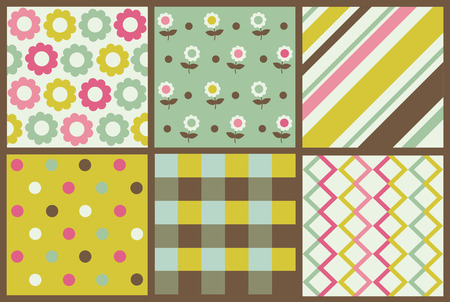 set of cute pattern. Vector