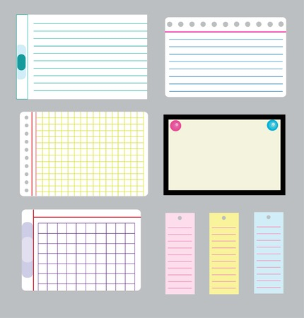 thwarted: set of note papers. Illustration