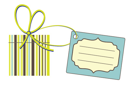 gift with label.  Vector