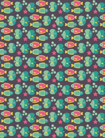 seamless underwater pattern design. vector illustration Stock Vector - 27868585