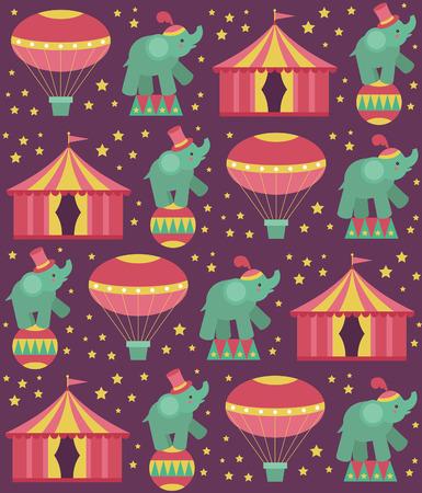 seamless circus pattern design. vector illustration Vector