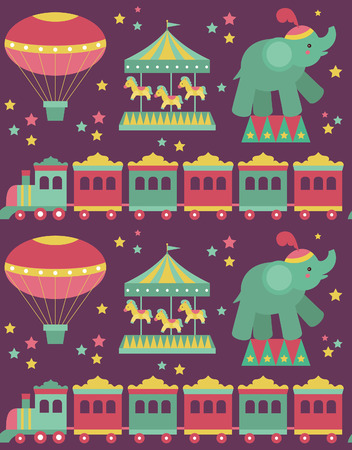 seamless circus pattern design. vector illustration Vector
