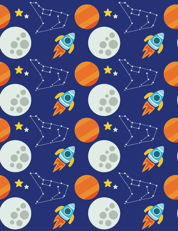 space seamless pattern design. vector illustration Vector