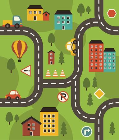 fun vehicle pattern design. vector illustration Vector