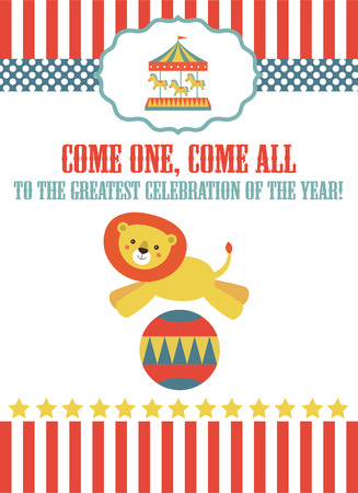gee gee: circus card design. vector illustration Illustration