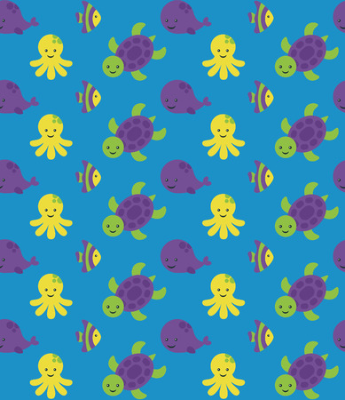 underwater seamless pattern design. vector illustration Vector