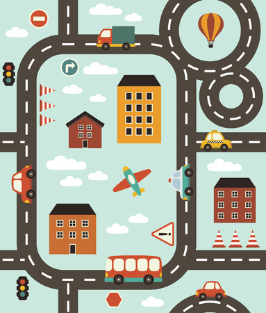 cute baby vehicle pattern design. vector illustration Illustration