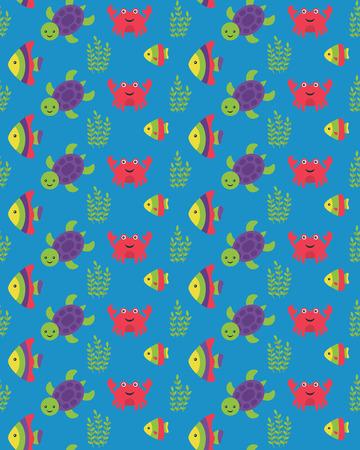 scalar: underwater seamless pattern design. vector illustration Illustration