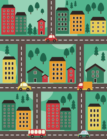 seamless vehicle pattern design. vector illustration Vector