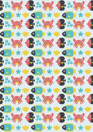seamless underwater pattern design. vector illustration Stock Vector - 27868715