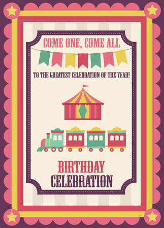 cute circus card design. vector illustration 矢量图像