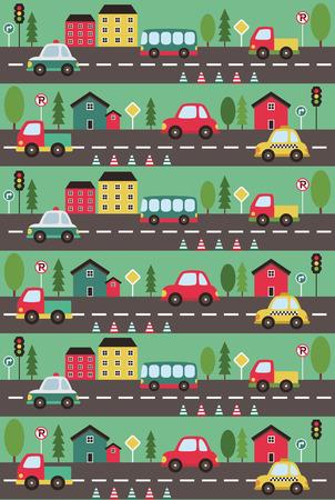 beep: baby vehicle pattern design. vector illustration