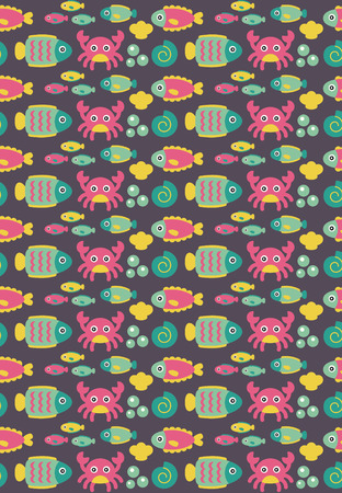 seamless underwater pattern design. vector illustration Stock Vector - 27868748