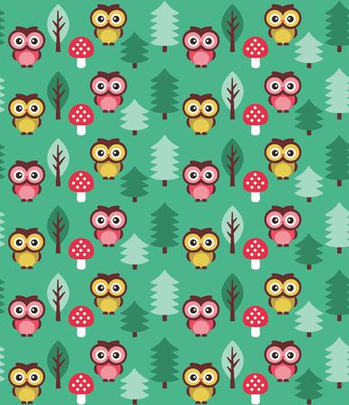 owl cute: cute baby pattern design. vector illustration