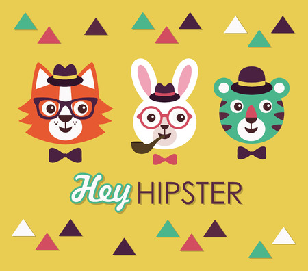 hey hipster card design. vector illustration Vector