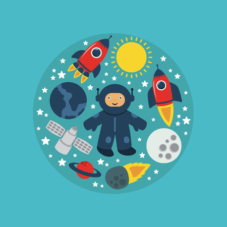 cute space card design. vector illustration Vector