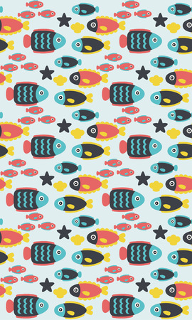 seamless underwater pattern design. vector illustration Vector