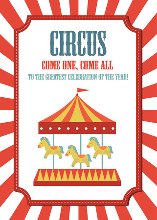 circus card design. vector illustration Çizim