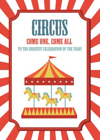 circus kaart ontwerp. vectorillustratie Stock Illustratie