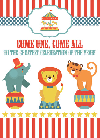 circus card design. vector illustration Vector