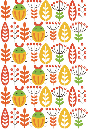 cute seamless floral pattern design. vector illustration Vector