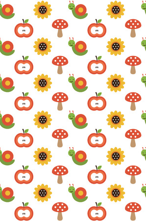 cute seamless floral pattern design. vector illustration Vector