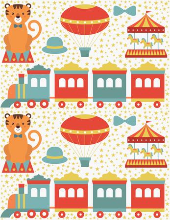 gee: seamless circus pattern design. vector illustration