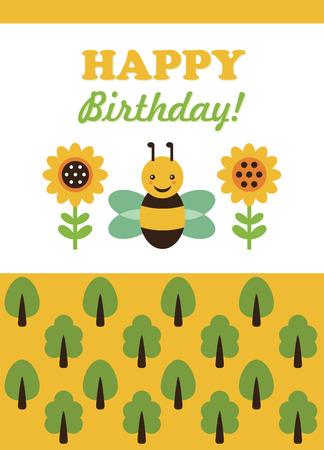 birthday card. vector illustration Vector