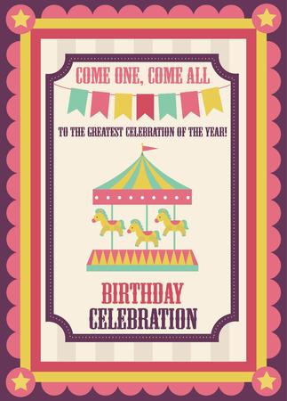 cute circus card design. vector illustration Vector