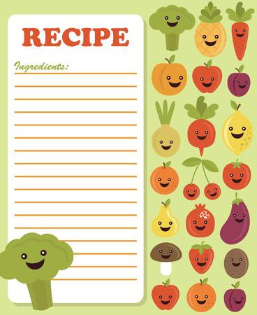 recipe card design. vector illustration Vector