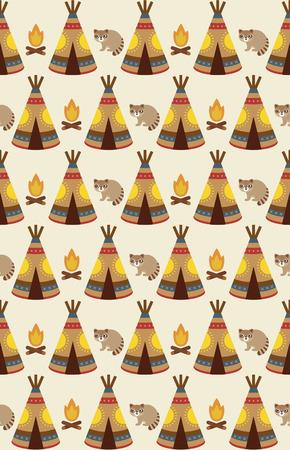 native american baby: cute injun pattern design. vector illustration Illustration