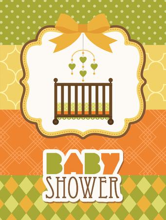baby shower card. vector illustration Vector