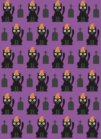 rood: halloween seamless pattern. vector illustration Illustration