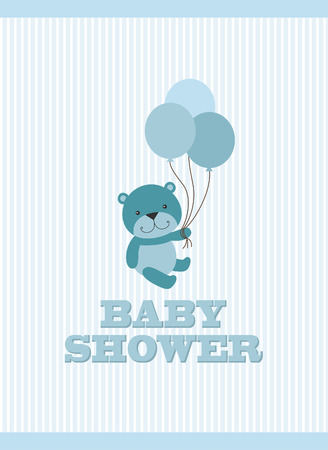 baby boy announcement: baby arrival card design. vector illustration