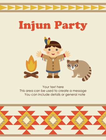 cute injun card design. vector illustration Vector