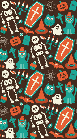 halloween seamless pattern. vector illustration Vector
