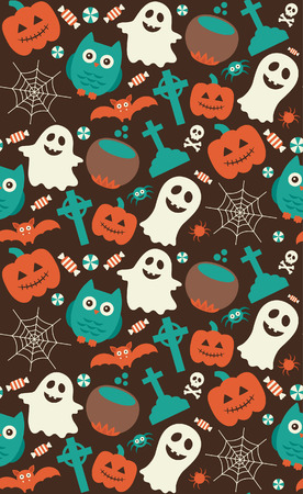 halloween seamless pattern. vector illustration Vector