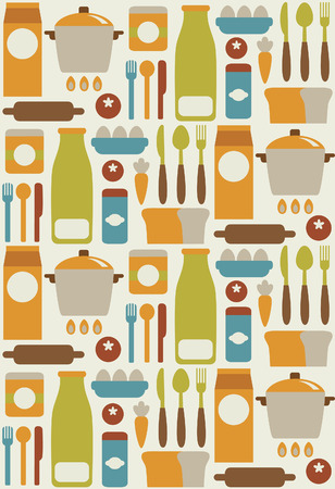 seamless kitchen pattern design. vector illustration Vector