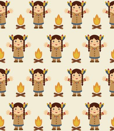 cute injun pattern design. vector illustration Vector